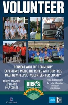 Dick's Sporting Goods Volunteer poster