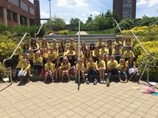 Group photo of children at Binghamton University