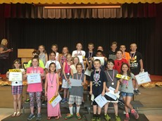 Group picture of 3rd & 4th grade honors council