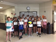 Middle School Honors Those Who Earned Perfect Attendance