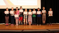 Photo of students on stage