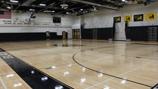 Empty Windsor basketball gymnasium