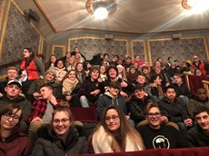 Students sitting in a theater