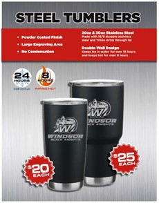 Steel Tumblers sale flyer