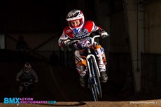 Garrison Calta racing on bike