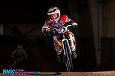 Garrison Calta racing on bike