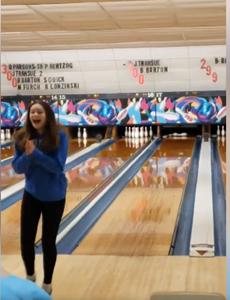 Alexis Barton bowling