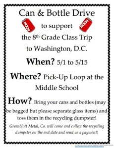Can and bottle drive flyer