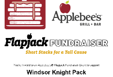 flyer for Applebees fundraiser