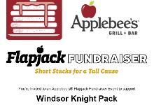 flyer for Applebees fundraiser