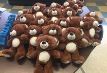 Teddy bears on a table