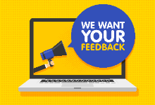 We Want Your Feedback logo