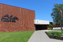 Exterior of Windsor Central High School