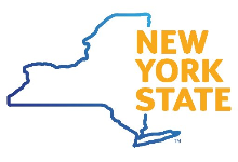 "New York State outline and words, ""New York State"""