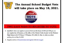 Voting reminder flyer