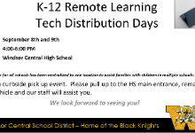 Remote Learning Tech Distribution Flyer