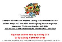 Thanksgiving Basket flyer