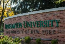 Binghamton university sign