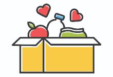Animated box of food