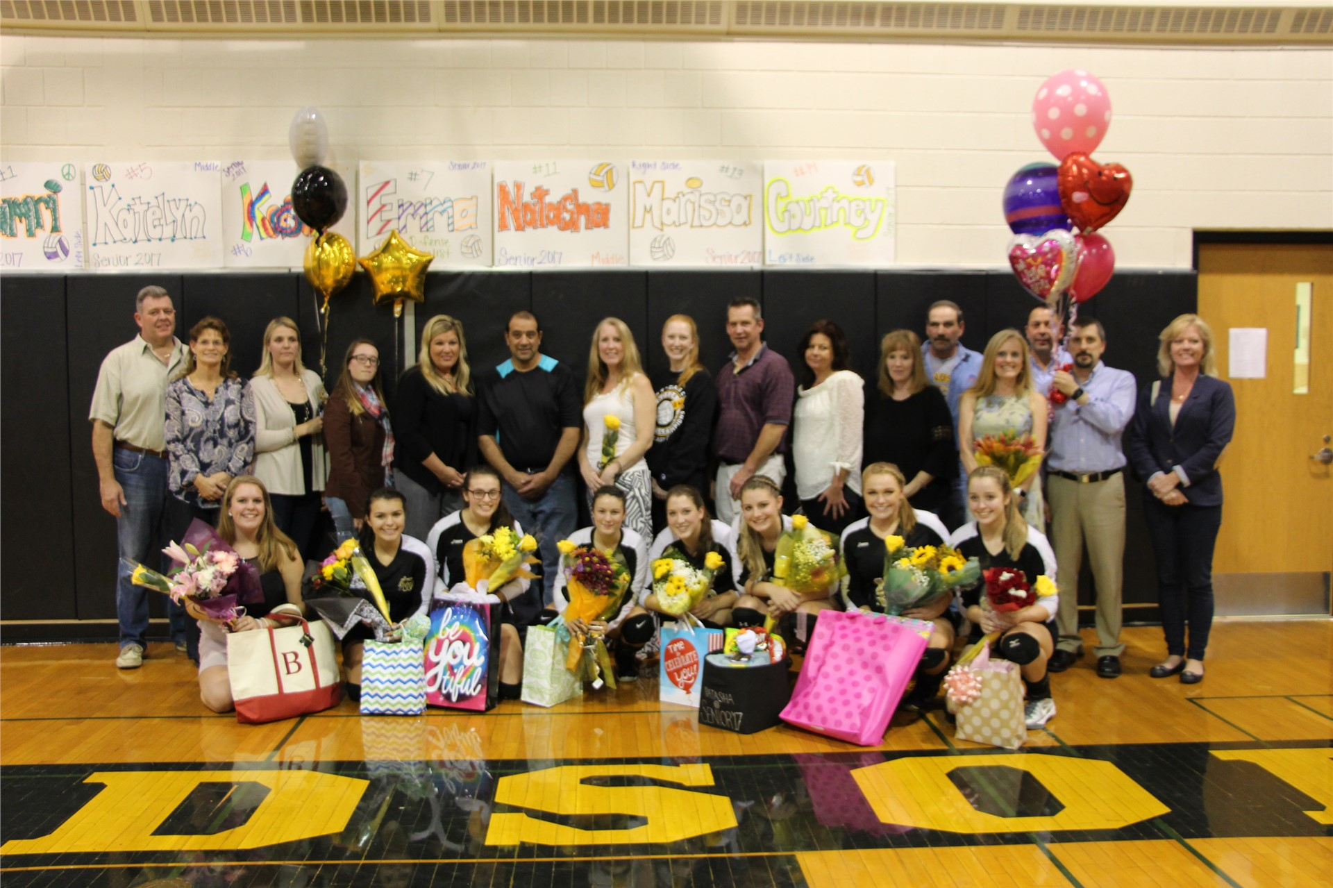 Volleyball Seniors and Parents