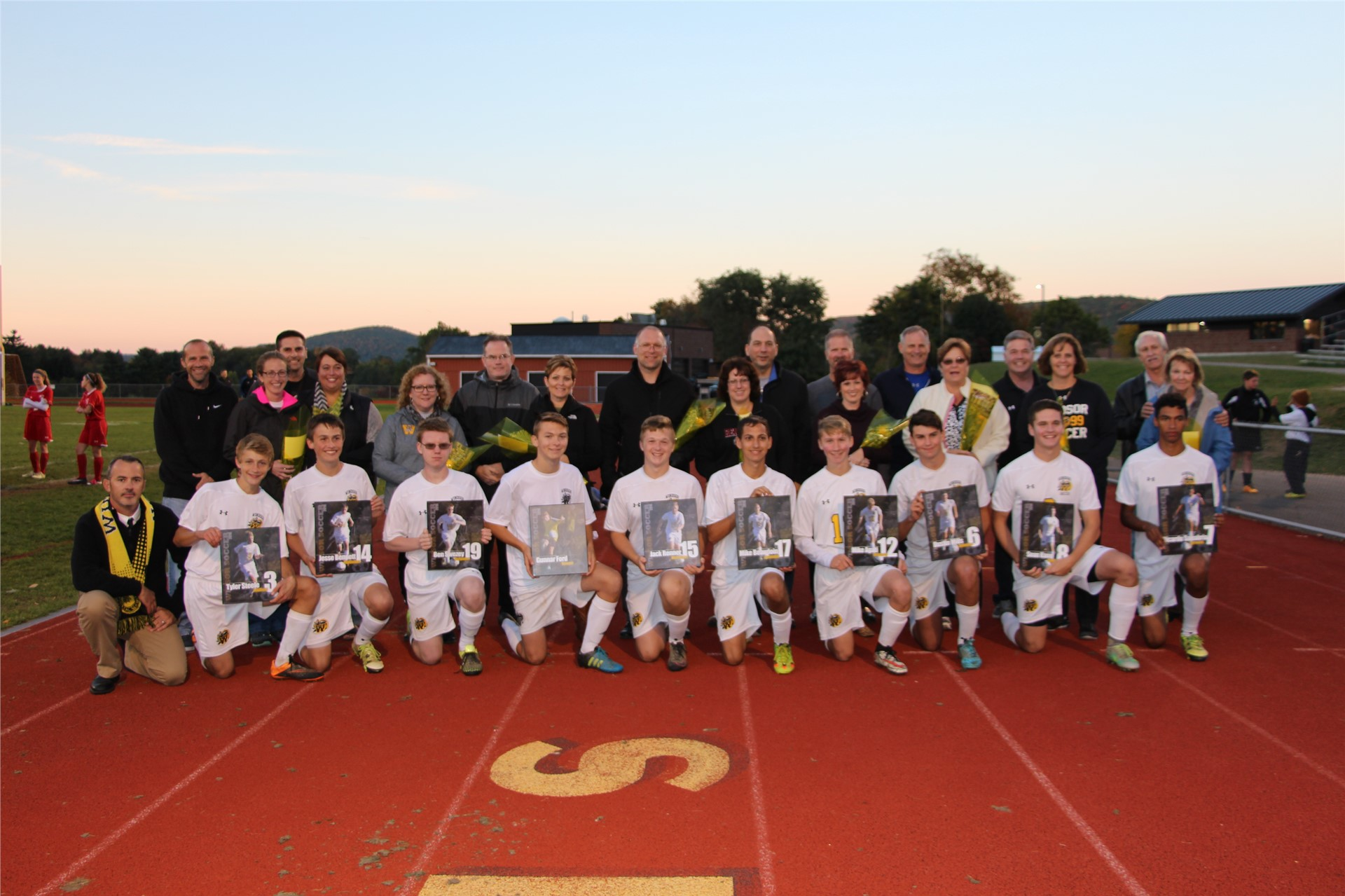 Boys Soccer Seniors and Parents
