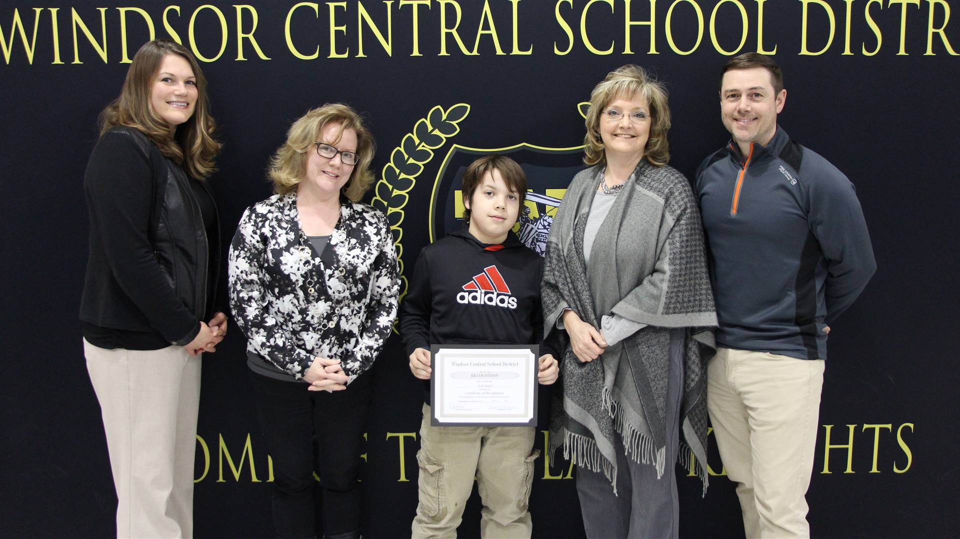 Spelling Bee winners – Eli Scales and Scott Beach