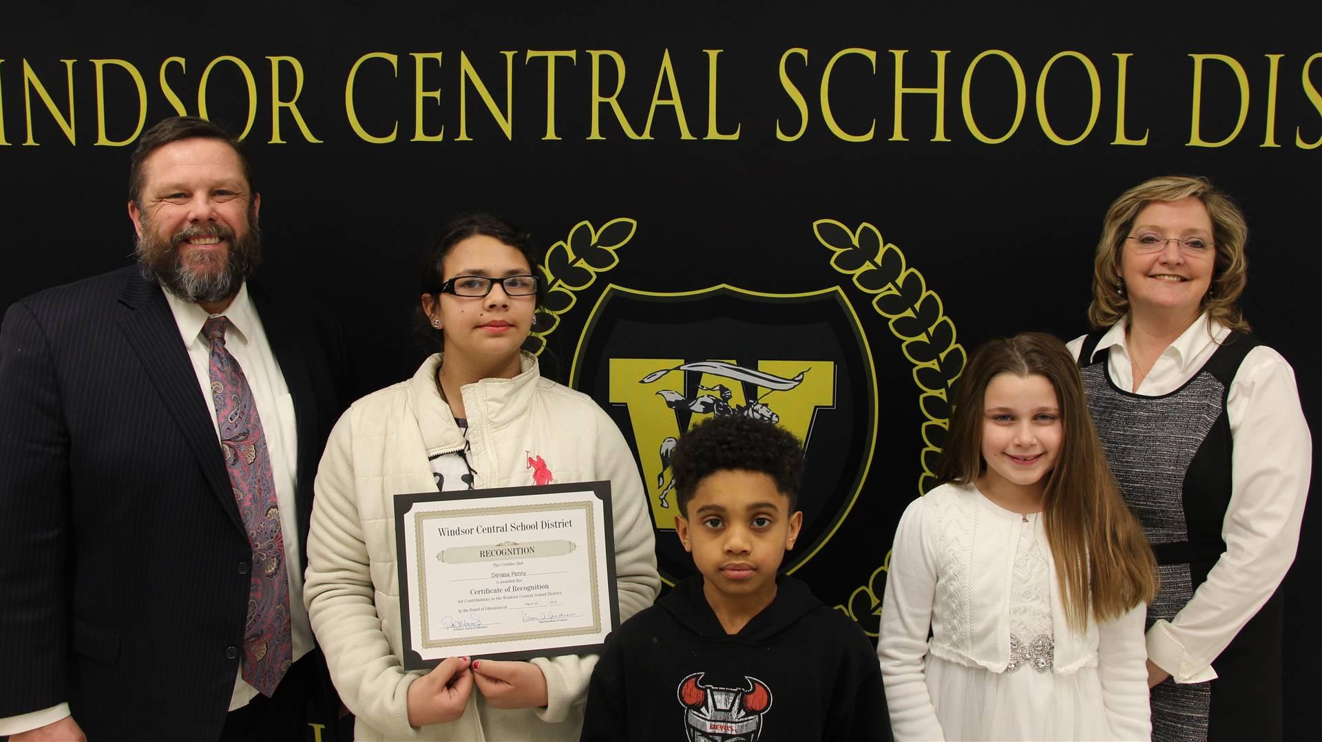 Joaquin Carlo, Denasa Penny and Cali Rooke - 5th Grade Students at    A. F. Palmer